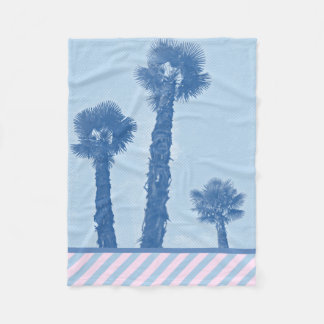 Palm trees - Winter in Opatija #3 Fleece Blanket