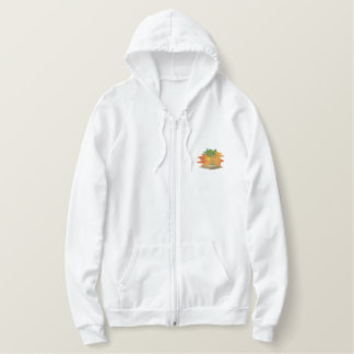 Palm Trees with Sunset Embroidered Hoodie