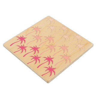 Palm Trees - Wooden Coaster Maple Wood Coaster