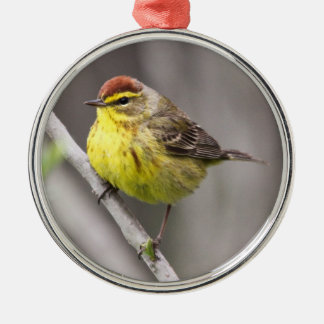 Palm Warbler Christmas Ornament