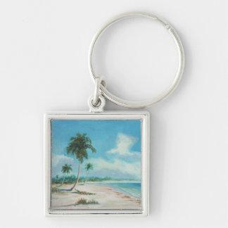 PALMA CUBANA Silver-Colored SQUARE KEY RING