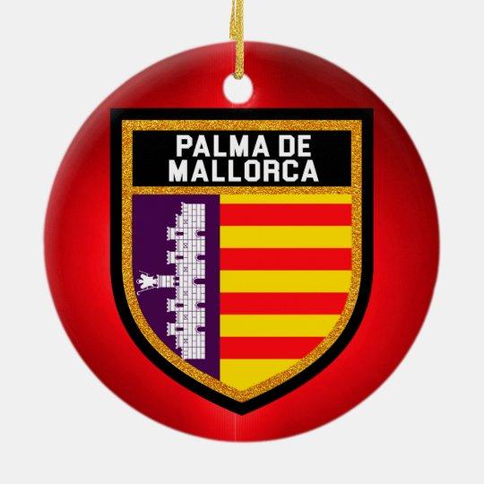 Palma de Mallorca Flag Christmas Ornament
