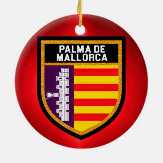 Palma de Mallorca Flag Round Ceramic Decoration