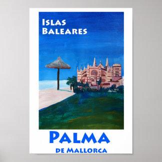 Palma de Mallorca Spain Retro Poster