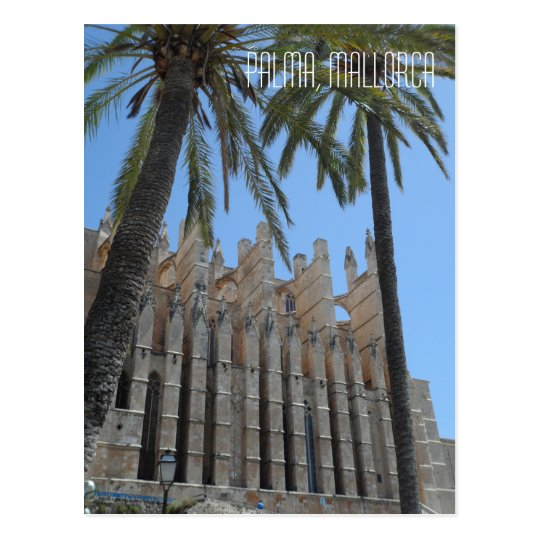 Palma Gothic Cathedral Majorca Spain Travel Postcard