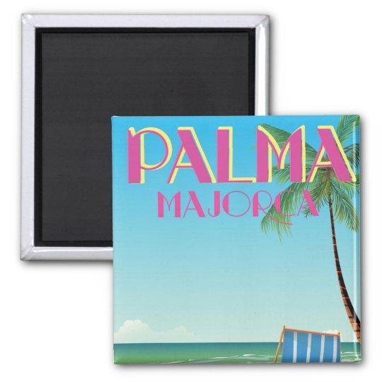 Palma Majorca Beach holiday poster Magnet