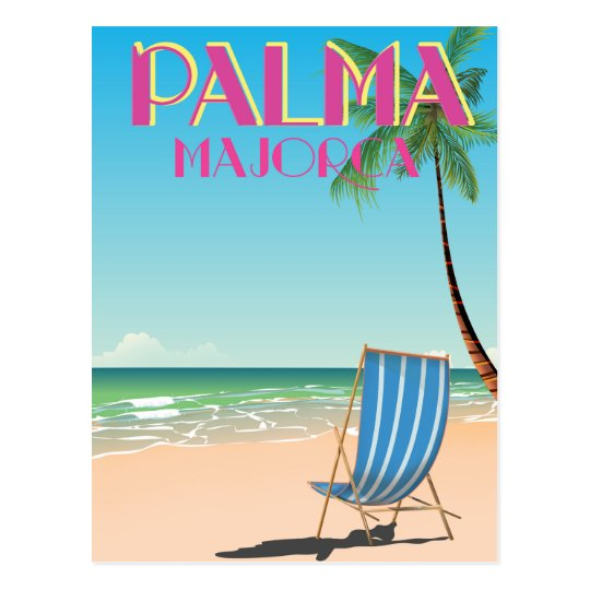 Palma Majorca Beach holiday poster Postcard