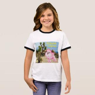 Palmdale California Pink Poodle Retro Kids T-shirt