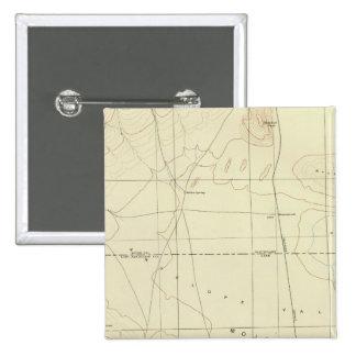 Palmdale quadrangle showing San Andreas Rift 15 Cm Square Badge