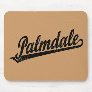 Palmdale script logo in black distressed mouse pad