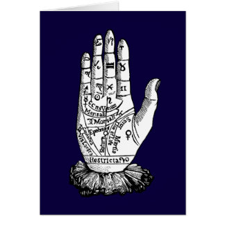 Palmistry Chart, 1885 Card
