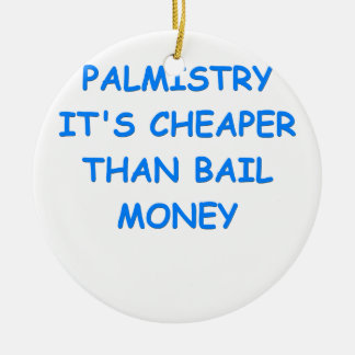 palmistry christmas ornament