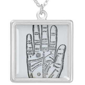 Palmistry Silver Plated Necklace