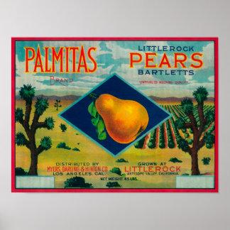 Palmitas Pear Crate LabelAntelope Valley, CA Poster