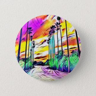 Palms 6 Cm Round Badge