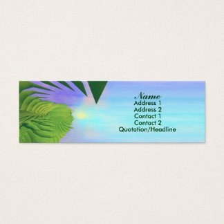Palms Above - Skinny Mini Business Card