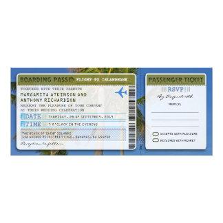 palms boarding pass wedding ticket-invite & rsvp