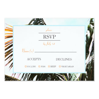 "Palms in Sunlight | 3.5"" x 5"" RSVP Card"