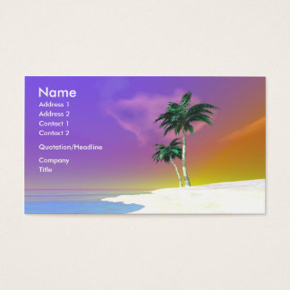 Palms on White - Business Business Card