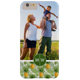 Palms & Pineapples | Add Your Photo & Monogram Barely There iPhone 6 Plus Case