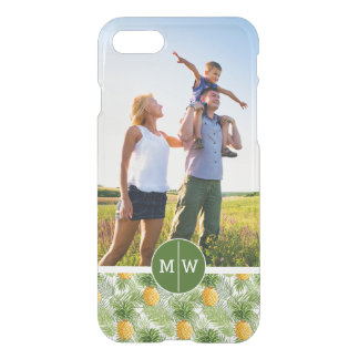 Palms & Pineapples | Add Your Photo & Monogram iPhone 8/7 Case