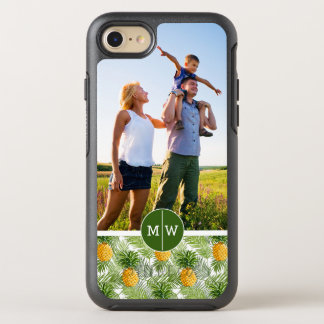 Palms & Pineapples| Add Your Photo & Monogram OtterBox Symmetry iPhone 8/7 Case