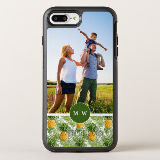 Palms & Pineapples| Add Your Photo & Monogram OtterBox Symmetry iPhone 8 Plus/7 Plus Case