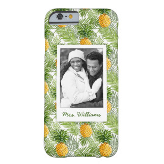 Palms & Pineapples | Add Your Photo & Name Barely There iPhone 6 Case