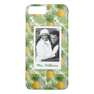 Palms & Pineapples | Add Your Photo & Name iPhone 8 Plus/7 Plus Case