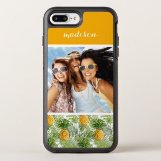 Palms & Pineapples | Add Your Photo & Name OtterBox Symmetry iPhone 7 Plus Case