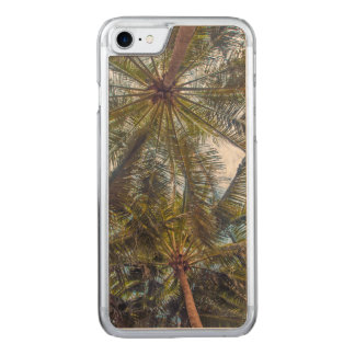Palms printed on Wood Carved iPhone 8/7 Case