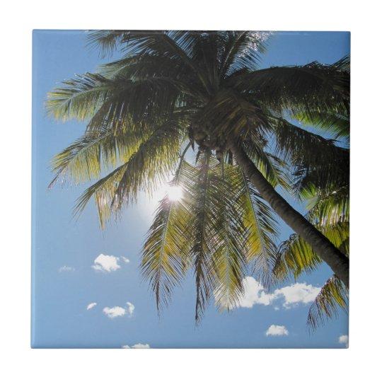 Palms Small Square Tile