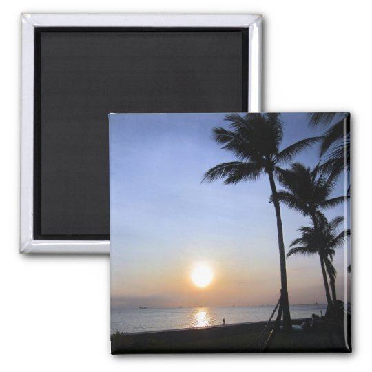 palms sunset magnet