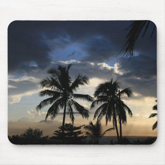 Palms sunset mouse pad