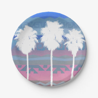 Palms Trees in Aztec Sunset Paper Plate