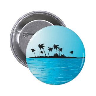 Palmtreeisland 6 Cm Round Badge