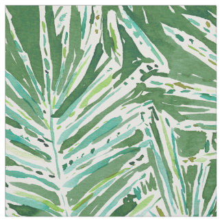 PALMY AND 85 Green Tropical Palm Leaves Fabric