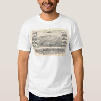Palo Alto, CA. Panoramic Map 1888 (1658A) Tees