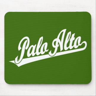 Palo Alto script logo in white Mouse Pad