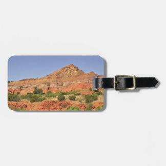 Palo Duro Canyon, Texas.  Successive rock layers Luggage Tag