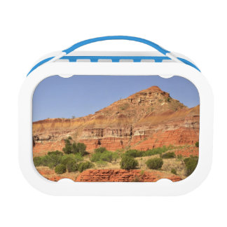 Palo Duro Canyon, Texas.  Successive rock layers Lunchboxes