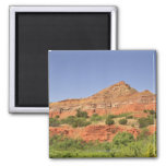 Palo Duro Canyon, Texas.  Successive rock layers Square Magnet
