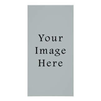 Paloma Grey Color Gray Trend Blank Template Personalized Photo Card