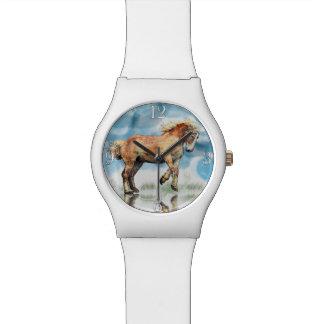Palomino Belgian Draught Horse Animal-lover Art Wrist Watches