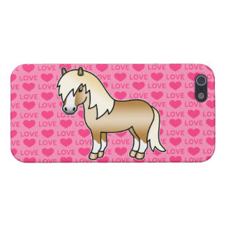 Palomino Cartoon Shetland Pony Love Hearts iPhone 5/5S Case
