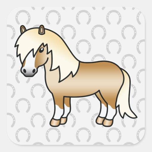 Palomino Cartoon Shetland Pony Stickers