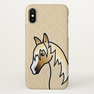Palomino Color Horse Head Cartoon Illustration iPhone X Case