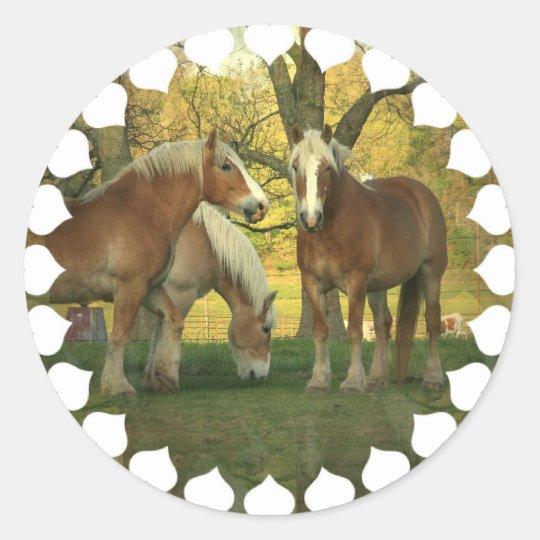 Palomino Draught   Horses Stickers