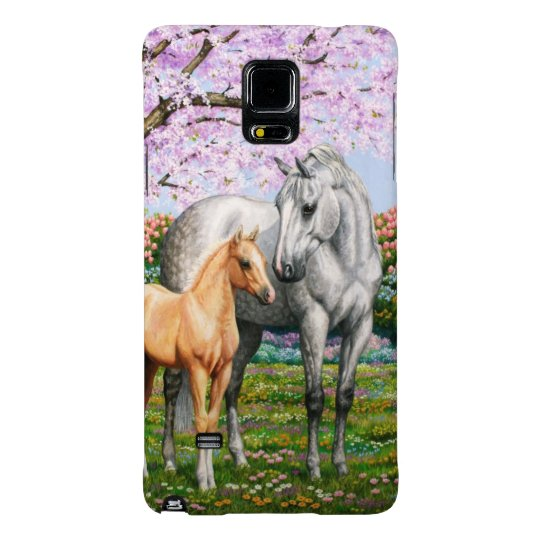 Palomino Foal and Grey Horse Galaxy Note 4 Case
