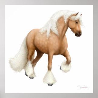 Palomino Gypsy Cob Horse Print